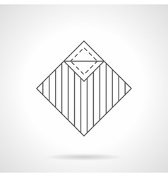 Linoleum covering flat line icon vector
