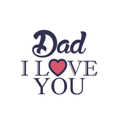 love father day badge sticker logo icon design vector image