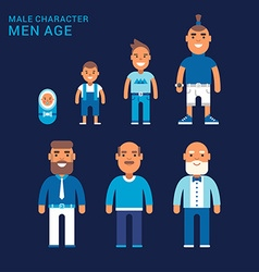 Men age Life cycle Different generations of men vector