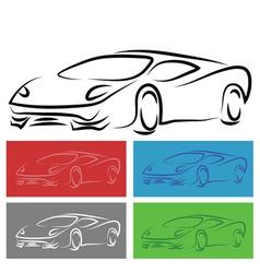 Modern car vector