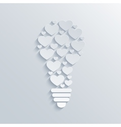 modern concept heart and light bulb vector image