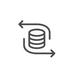 Money exchange line icon vector