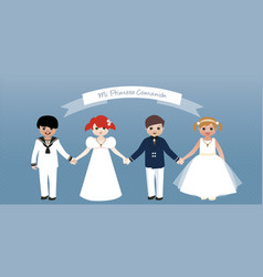my first communion children set-01 vector image