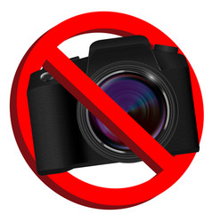 no camera prohibition signs on white background vector image
