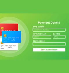 Online payment form online digital invoice on vector