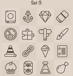 Outline Icons Set 3 vector image vector image