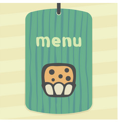 Outline sweet muffin food icon modern infographic vector