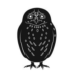 owlanimals single icon in black style vector image