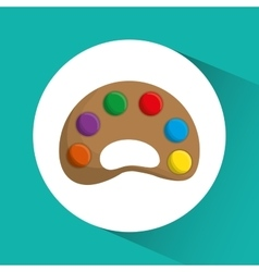 Palette icon Education concept Flat vector