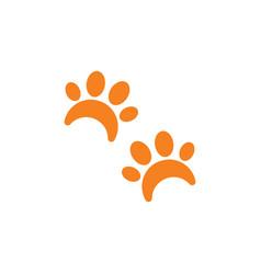 pet paw walk symbol logo vector image