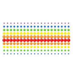 Pharmacy tablet shape halftone spectral array vector