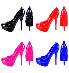 Picture women shoe on white background vector