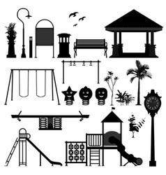 playground park garden equipment a set of vector image