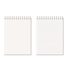 realistic vertical blank copybook with metallic vector image