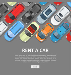 rent a car template vector image