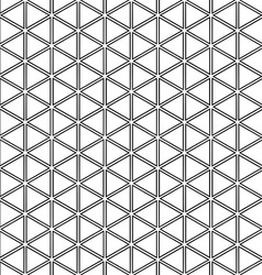 Repeating black white triangle pattern vector