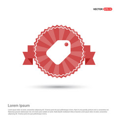 sale tag icon - red ribbon banner vector image