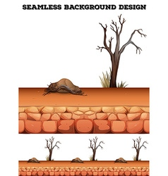 Seamless background with desert and tree vector image