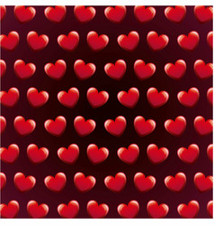 seamless pattern love heart valentines day vector image