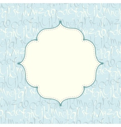 Seamless pattern with hand drawn letters and frame vector image