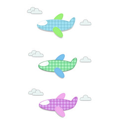 set of cute baby clip art airplanes for vector image