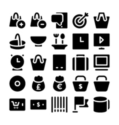 Shopping icons 7 vector