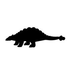 silhouette ankylosaurus dinosaur jurassic vector image