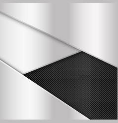 silver and black metal background abstract vector image