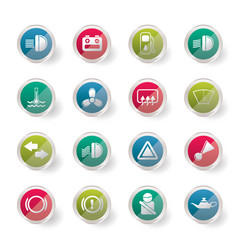 simple cinema and movie icons over colored backgro vector image