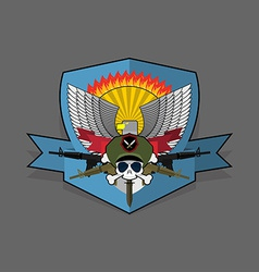 Special forces emblem Military logo embroidery vector image