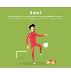Sport Concept in Flat Design vector image
