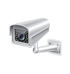 Surveillance camera isolated vector