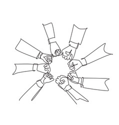 teamwork concept single continuous line drawing vector image