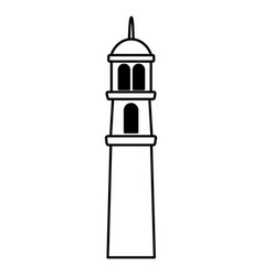 temple tower traditional vector image