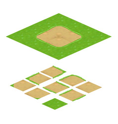 Terrain isometric texture for mobile game vector
