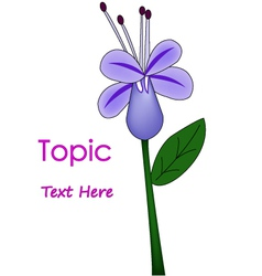The of purple flower vector