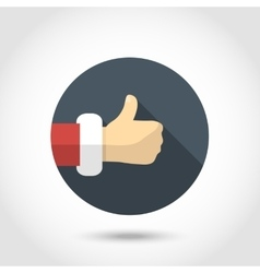 Thumb up hand icon vector