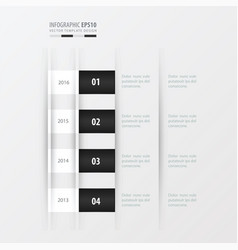 timeline design design black and white color vector image