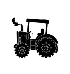Tractor farm machinery vector