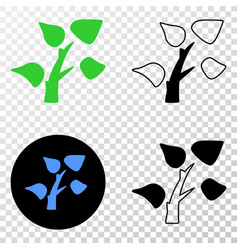 tree plant eps icon with contour version vector image