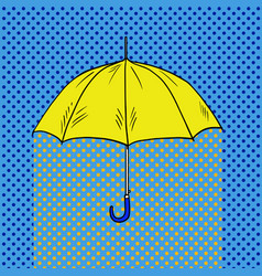 umbrella pop art style vector image