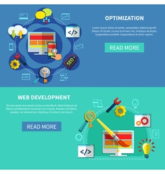 Web Optimization Banners Set vector image