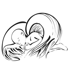 angel baby on white vector image