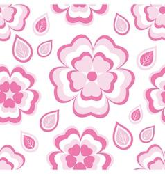 Seamless pattern with pink flowers sakura vector image vector image