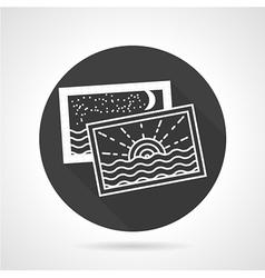 Tourism black round icon vector image