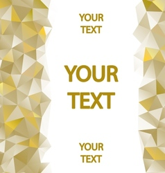 Yellow polygons background vector image vector image