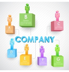 Business Structure vector image vector image