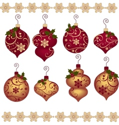 Cute christmas design elements vector image vector image