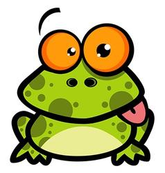 Little Frog Cartoon Character vector image