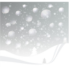 natural colored abstract winter landscape vector image
